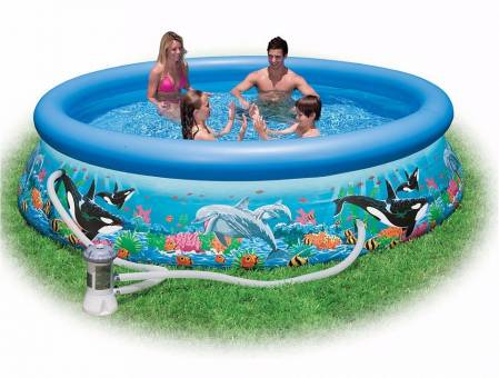 "Надувной бассейн "" OCEAN REEF Easy Set"" 305х76см, INTEX - 28126"